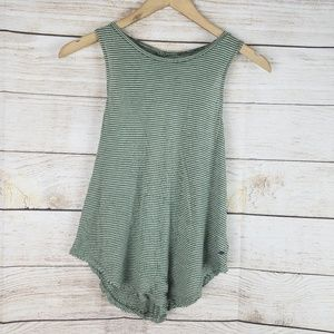American Eagle | Olive Green Striped Tank